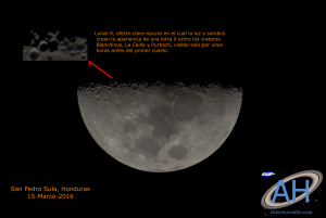 Lunar X captada desde San Pedro Sula, Honduras