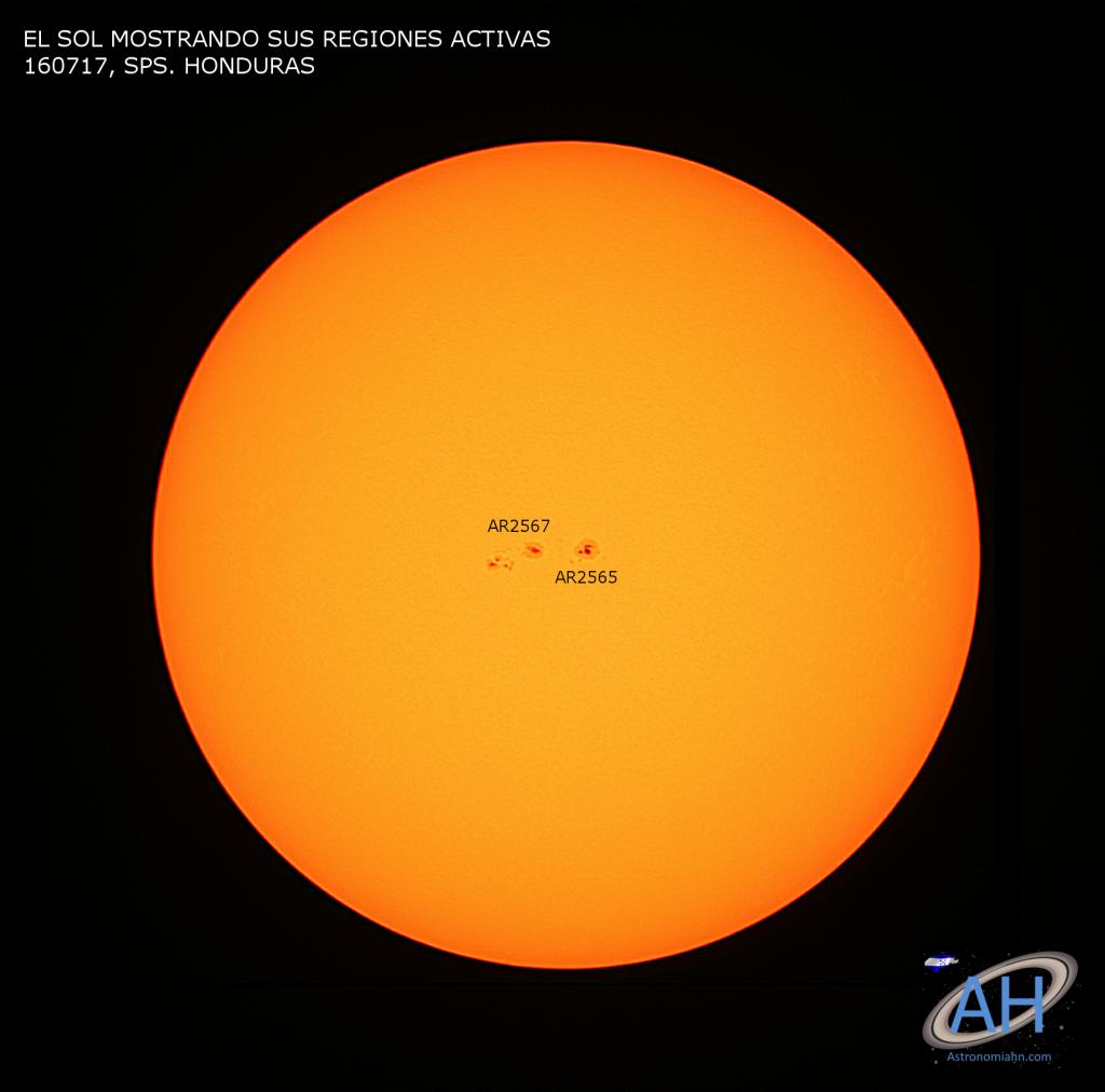 El Sol visto desde SPS. Honduras