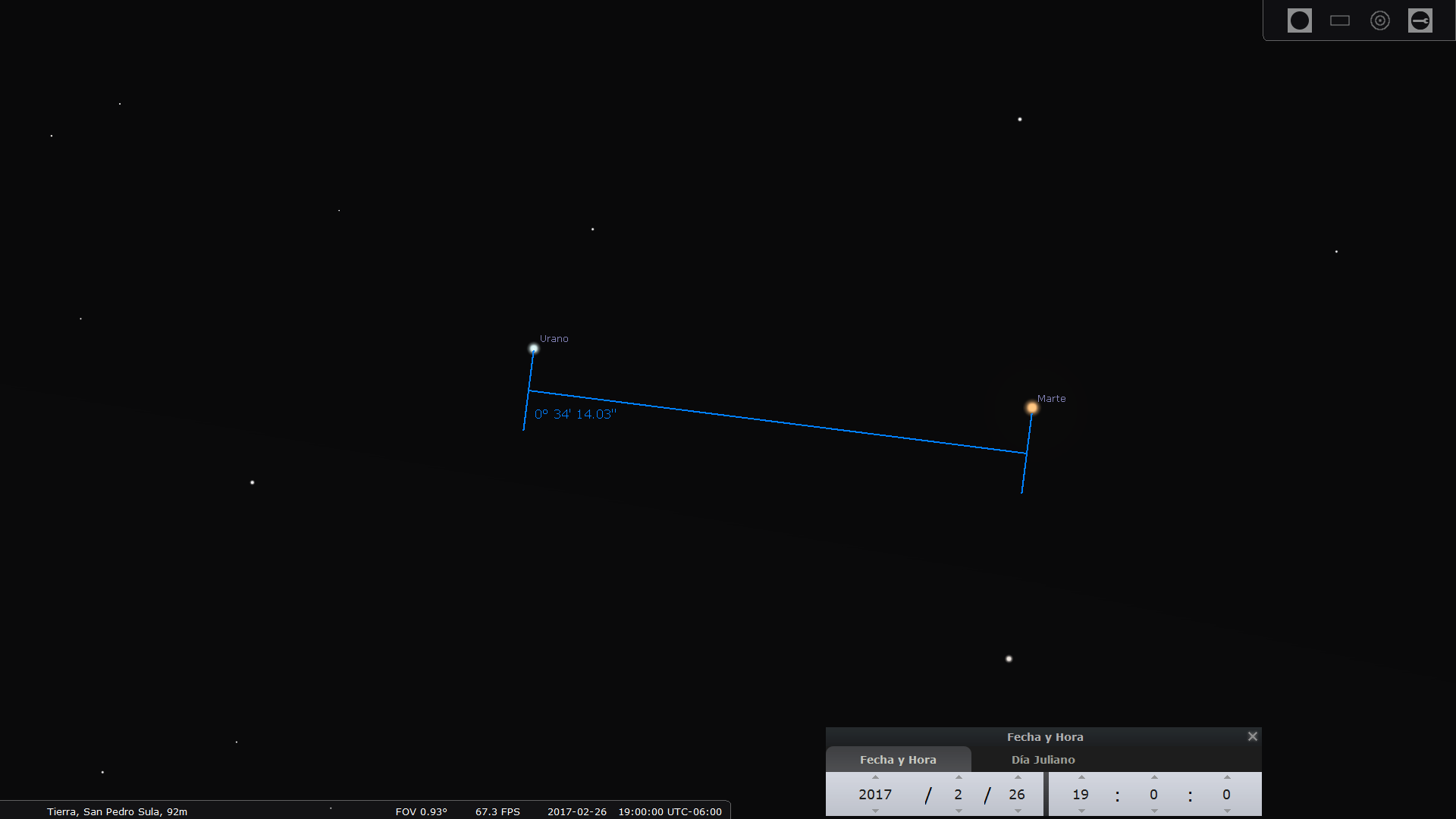 Marte-Urano 170227
